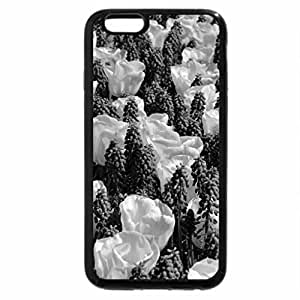 iPhone 6S Case, iPhone 6 Case (Black & White) - Pretty flowers