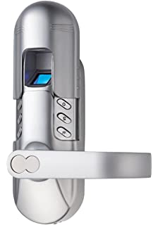 Assa Abloy Digi Weatherproof Electronic Fingerprint Door Lock for Home and Office Use with Keypad 6600