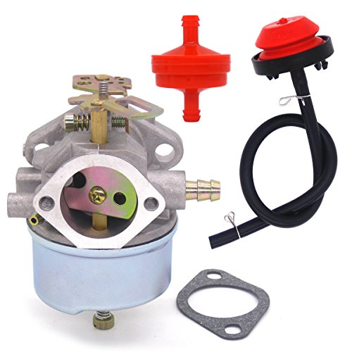 Atoparts New Carburetor Carb with Primer Bulb Fuel Filter for Tecumseh 632334A 632111 HM70 HM80 HMSK80 HMSK90 Engines