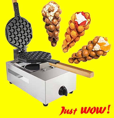 Puffle Waffle Maker Professional Rotated Nonstick ALD Kitchen (Grill / Oven for Cooking Puff, Hong Kong Style, Egg, QQ, Muffin, Cake Eggettes and Belgian Bubble Waffles) (GAS Type) (Industrial Tea Machine)
