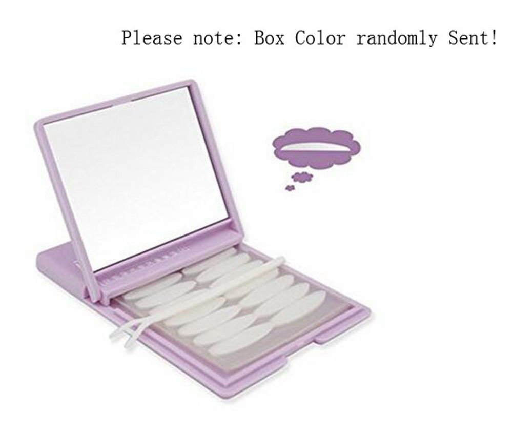 480PCS/240Pairs Portable Breathable Naturally Invisible Double Eyelid Tape Self-Adhesive Double Eyelid Stickers Instant Eye Lift Strips with Portable Packing Mirror Box and Y Fork (Green Box-Narrow Shape) erioctry