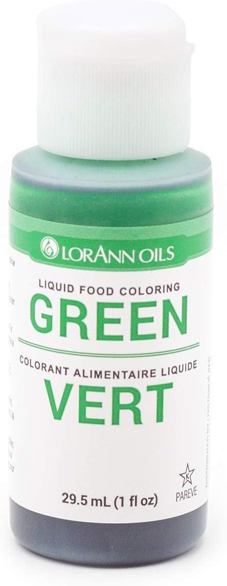 LorAnn Green Liquid Food Color, 1 ounce squeeze bottle