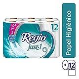 Papel Higiénico Just 1; Con Hojas Cuádruples 50% Mas Gruesas, Centro Suave; Marca Regio; 12 Rollos