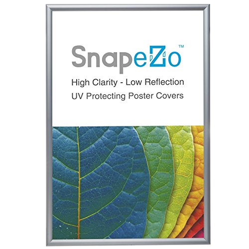Poster Frame 24x32 Inches, Silver SnapeZo 1.2