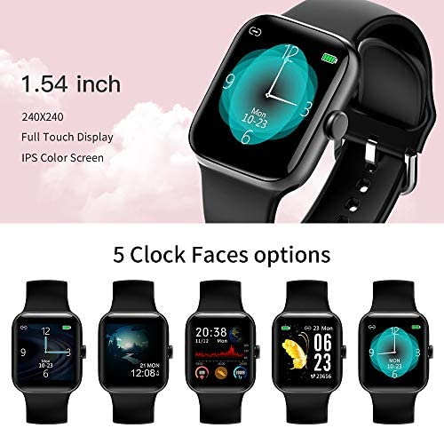 Smart Watch for Men Women,Fitness Tracker with 1.54″ Full Touch Color Screen ,IP67 Waterproof Pedometer Smartwatch with Pedometer Heart Rate Monitor Sleep Tracker for Android and iOS Phones 51gbFAENY7L