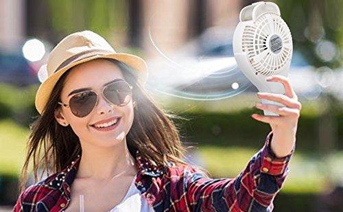 OPOLAR Handheld Misting Fan, Rechargeable Battery Operated Fan, 3 Settings, Water Spray Fan, Mini Portable Desk Fan, Humidifier Quiet Fan, 2200mAh Battery, Personal Cooling Fan for Outdoor, Home by OPOLAR (Image #8)