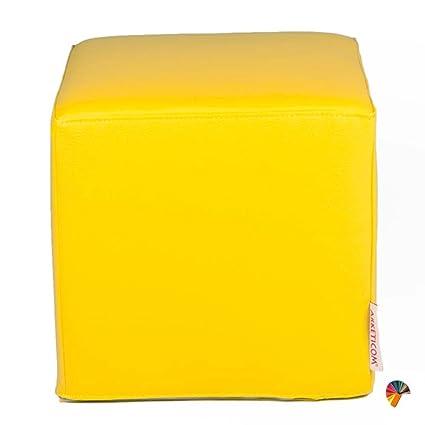 Arketicom BABY DADO PUFF Cubo para NIÃOS Asiento Tapizado con Polipiel Sintetica (desenfundable
