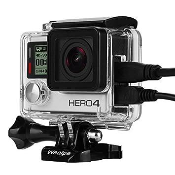 Wealpe - Carcasa de Repuesto para cámara GoPro Hero 4, 3+, 3 ...