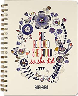 2020 She Believed She Could Moms Weekly Planner (18-Month ...