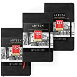 "ARTEZA 5.1x8.3"" Sketch Book, Pack of 3"