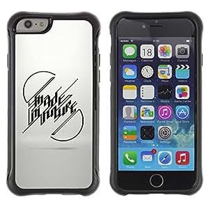 Suave TPU GEL Carcasa Funda Silicona Blando Estuche Caso de protección (para) Apple Iphone 6 / CECELL Phone case / / Made In Future Message /