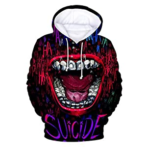 DIOMOR Fashion Halloween 3D Print Hooded Outwear for Unisex Unique Hoodie with Pockets Women Men Party Pullover