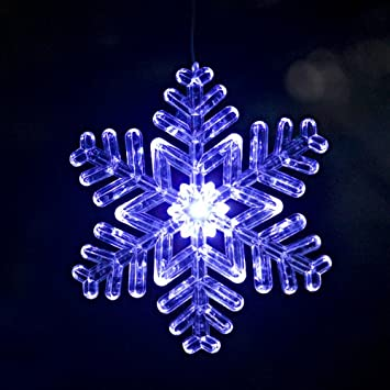 Amazon lighted outdoor snowflake ornament design 2 size 6 lighted outdoor snowflake ornament design 2 size 6 inches bluewhite aloadofball