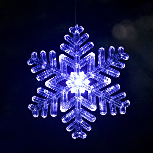 Outdoor Lighted Snowflake Ornaments - 3