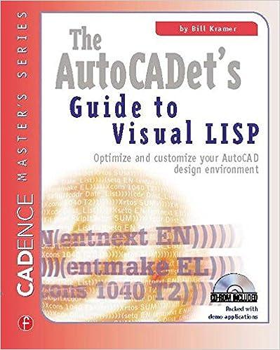 Amazon com: The AutoCADET's Guide to Visual LISP