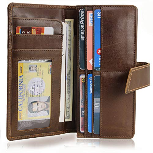 Birch Leathers Travel Wallet - Travel Classic Wallet Leather