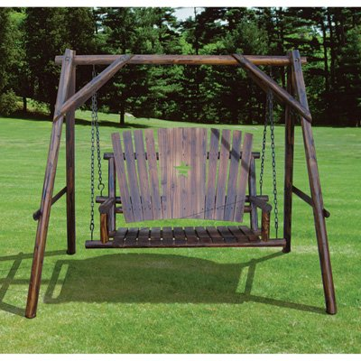 Char-Log A-Frame Base and Bench Swing