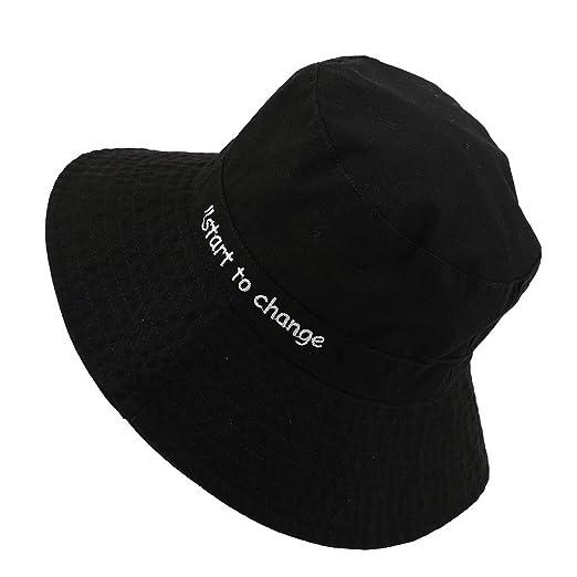 5046b08f158d08 Bsjmlxg Women Wide Brim Cap, Packable Summer Hat, UV Protection Sun Hats,  Beach