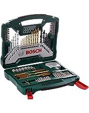 Bosch 70 st. X-Line titanborr och skruvdragare set (trä, sten och metall, tillbehör borr)