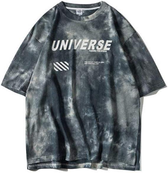 Camiseta 3D impreso,verano Hip Hop Tie Casual negro suelto o ...