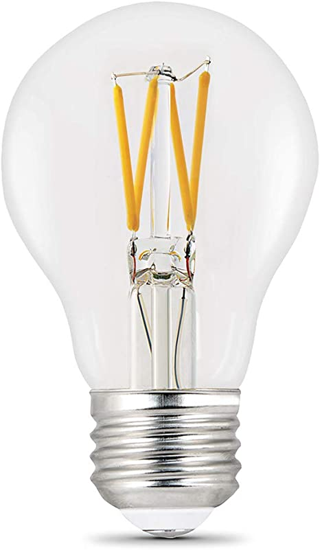 2700K Feit Electric Filament LED 60 Watt Equivalent Dimmable Bent Tip Pack of 24 500 Lumen Clear Candelabra Base Decorative Bulb