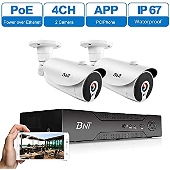 Amazon Com Poe Security Camera System Bnt 1080p 4channel