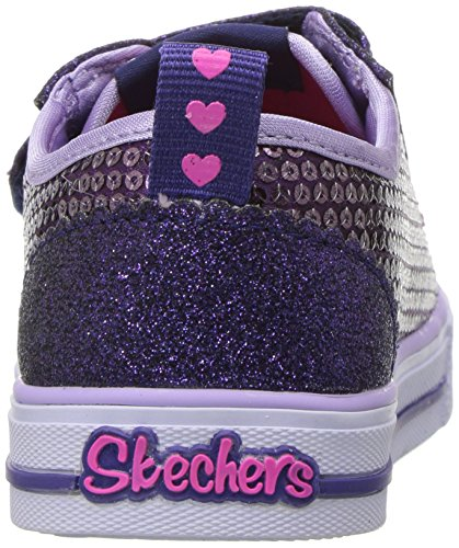 Skechers Baby Mädchen Shuffles-Itsy Bitsy Sneaker Mehrfarbig (Purple Sequin Textile/ Blue Trim)