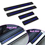 For F ord Ecosport Edge Fiesa Focus Car Door Sill Protector Door Entry Guard Welcome Pedal Threshold Reflective 4D Carbon Fiber Stickers Anti-Scratch