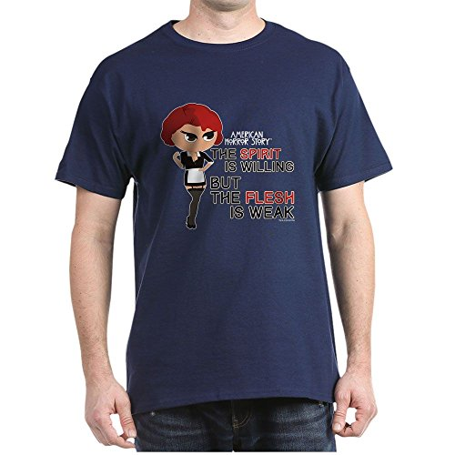 CafePress American Horror Story Chibi Moira O'h 100% Cotton T-Shirt Navy -