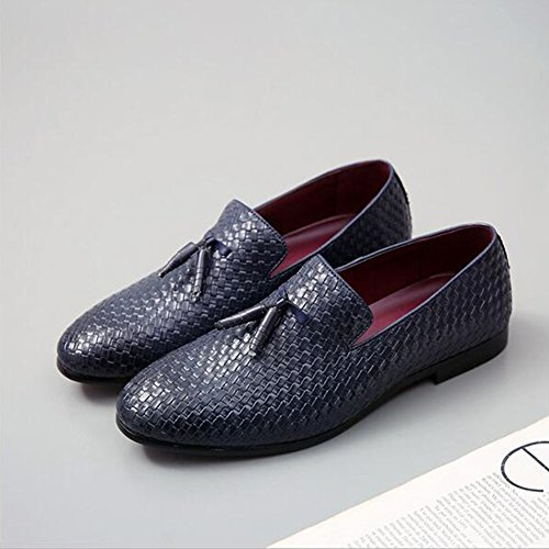 Office Shoes Joint Leather Men's Formal Shoes Split Wedding Oxfords Shoes amp; Fall for Career HUAN Walking Spring Shoes Boots Blue Fashion Bullock ZqxSUEZY