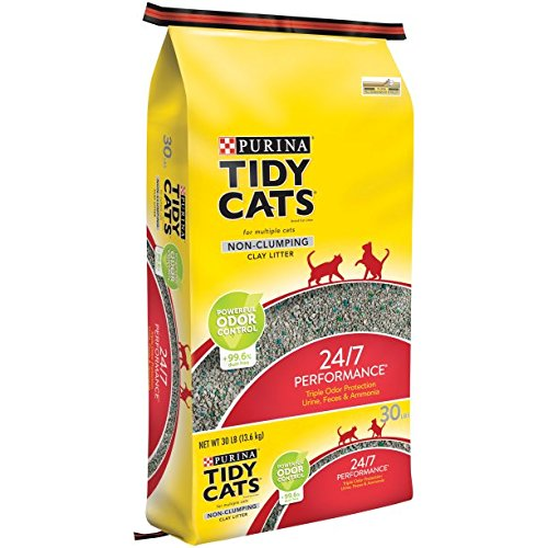 30 lb. Bag 3 pack Purina Tidy Cats Non-Clumping Cat Litter 24 7 Performance for Multiple Cats (30 lb. Bag 3 Pack)