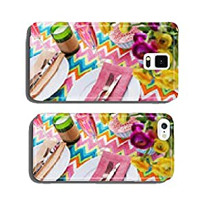 Bright colorful table setting with chevron tablecoth cell phone cover case iPhone6 Plus
