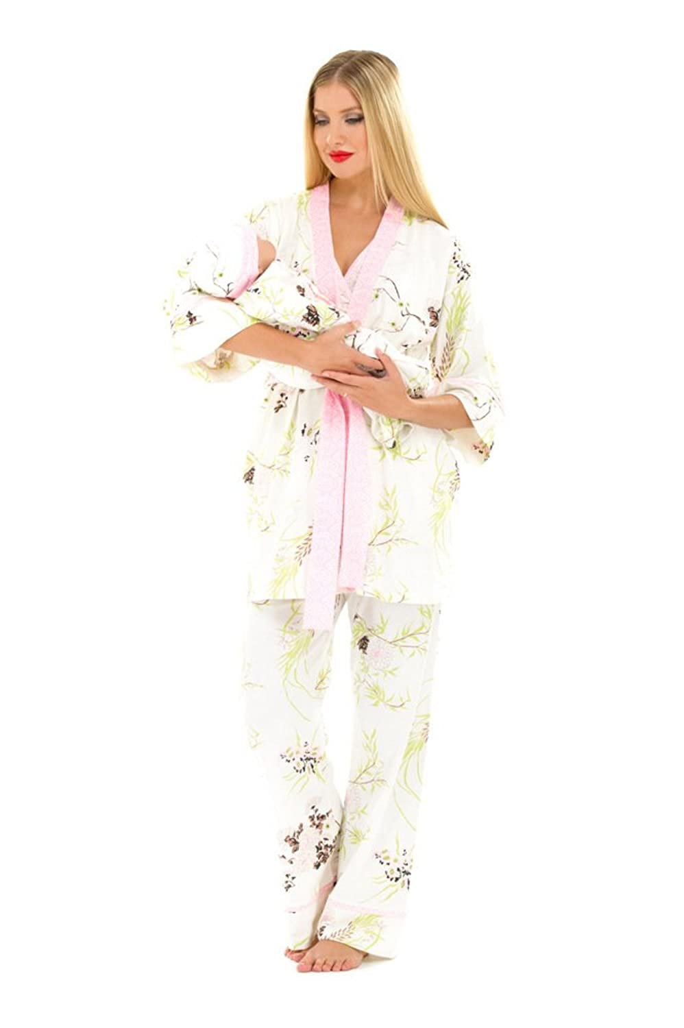 The Olian 5pc. Nursing PJ Set w/ matching Baby Outfit at Amazon ...