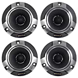 (4) Rockville RT5 2'' Aluminum Car/Pro Tweeters w Titanium Diaphragm+Kapton VC