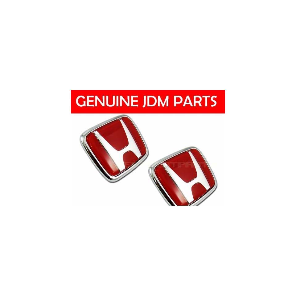 Genuine JDM Honda S2000 red H emblem set. AP1 AP2 OEM