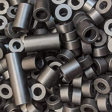 1 Length, 10 Aluminum Spacer Black 1//2 OD x 5//16 ID x Many Lengths Round by Metal Spacers Online
