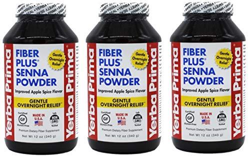 Yerba Prima Fiber Plus Senna Powder, 12 Ounce -3 Per Case