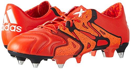 Orange Rosso rot Black Da bold Adidas Uomo Orange Scarpe 1 X15 Calcio solar Sg core Leather wxzxOHARqZ