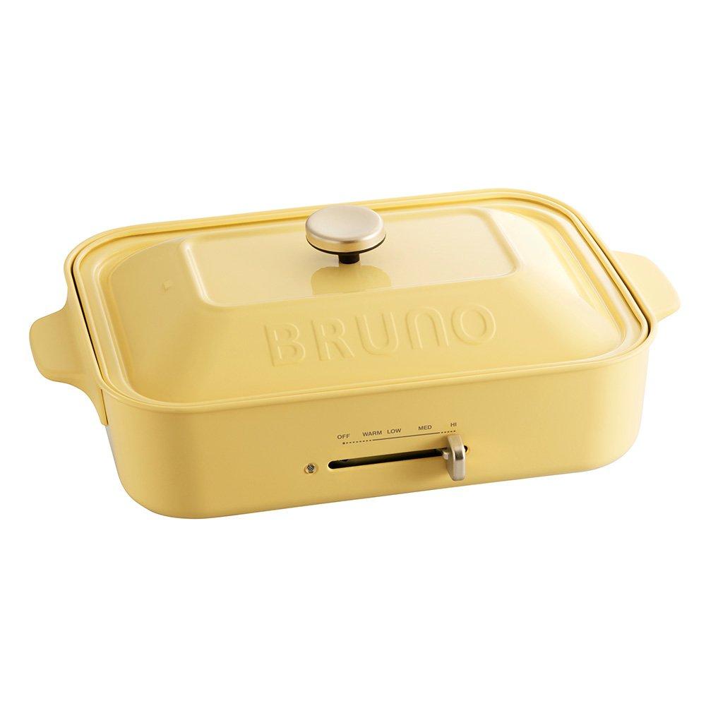 BRUNO コンパクトホットプレート カスタードイエロー BOE021-CYE   B01LZJMLPD