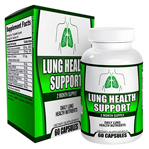 2-Month Lung Health Support Cleanse for Smokers - Supplement - Vitamins - Pills - Natural Lung Supplements - 60 Capsules