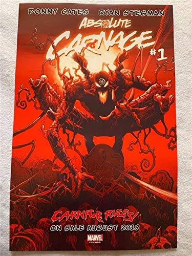 "ABSOLUTE CARNAGE/SPIDER-MAN #1-13""x20"" D/S Original Promo Comic Poster SDCC 2019 MARVEL"