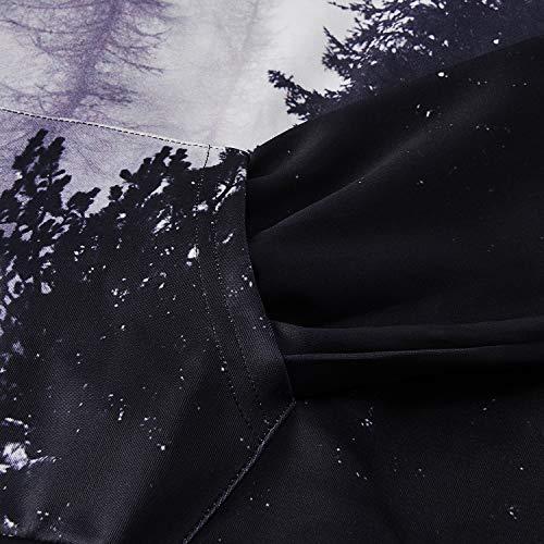 Foresta Felpe 3d Cappuccio Felpa Pattern Unisex Uomo Con Funnycokid Stampare Pullover WfpUvqIg