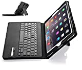 IVSO Apple iPad Pro 9.7 Case with Keyboard Ultra-Thin Detachable Wireless Keyboard Stand Case/Cover for Apple iPad Pro 9.7-inch 2015 Version Tablet (Black)