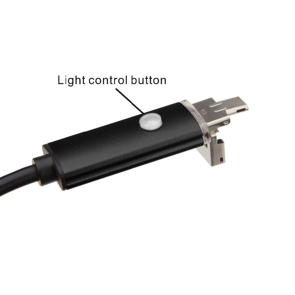 Zerone 1pc 20-Meter 5,5mm USB-Endoskop mit 720P wasserdichter Kamera f/ür Pipe Car Inspection
