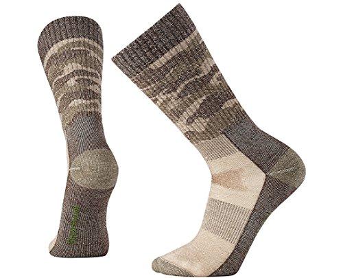 SmartWool Men's Hunt Medium Camo Crew Socks (Fossil) Medium ()