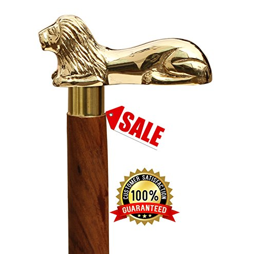 SouvNear Wooden Walking Stick 35.5