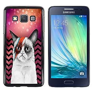 - Chevron Grumpy Cat - - Fashion Dream Catcher Design Hard Plastic Protective Case Cover FOR Samsung Galaxy A3 Retro Candy