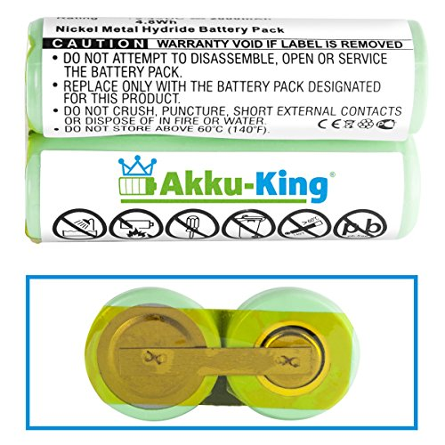 Akku-King Akku kompatibel zu Philips HQ3825, HQ4807, HQ5601, HQ67, HQ7310, HQ88 - ersetzt 138 10609 - Ni-MH 2000mAh