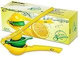 Teja's 2 in 1 lemon lime squeezer Manual Premium Quality Kitchen Tool Citrus  Press Juicer -Yellow