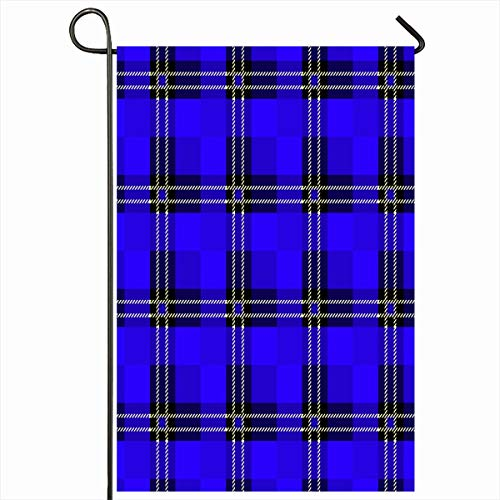 Campbell Flannel - Ahawoso Outdoor Garden Flag 12x18 Inches Blue Black Various Graphic Tartan Plaid Abstract Green British Campbell Celtic Check Checkered Design Flannel Seasonal Double Sides House Yard Sign